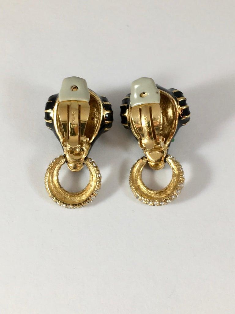 Ciner Rams Head Clip-On Earrings, 1980s For Sale 9