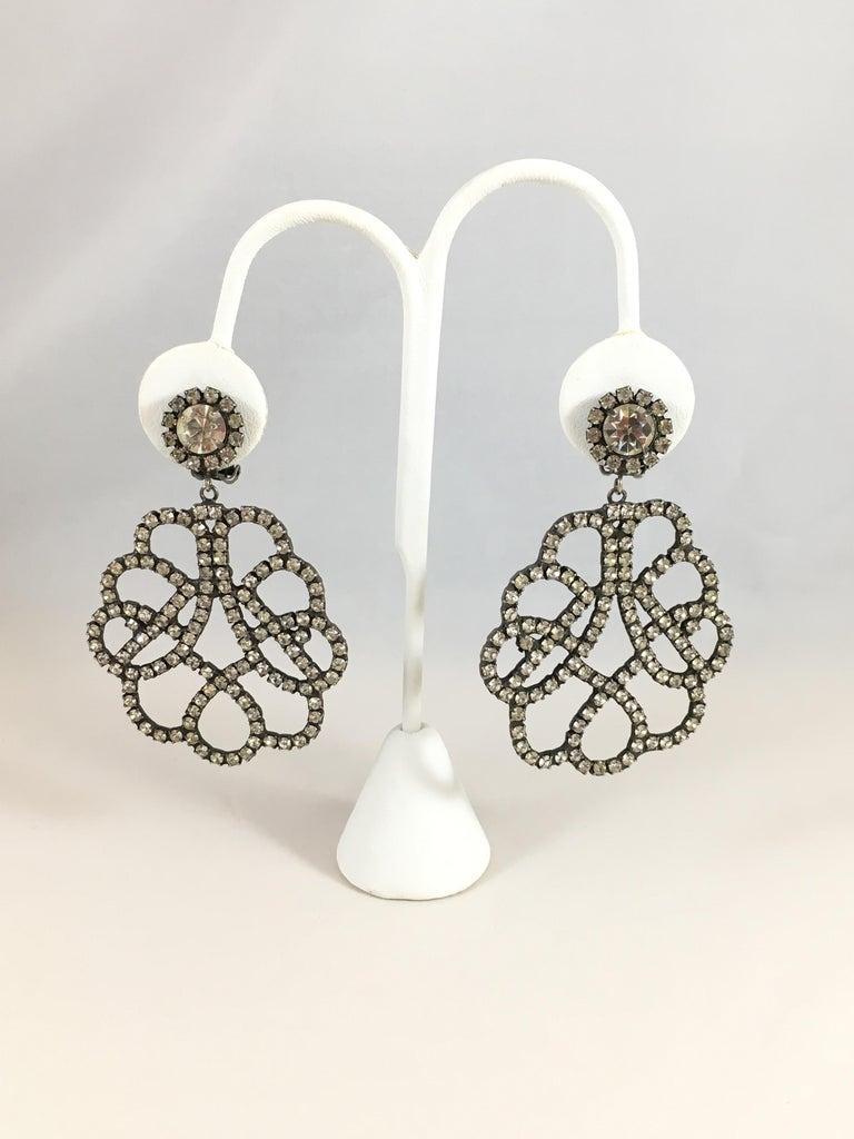 Women's Kenneth Jay Lane K.J.L. Large Earrings, 1960s  For Sale