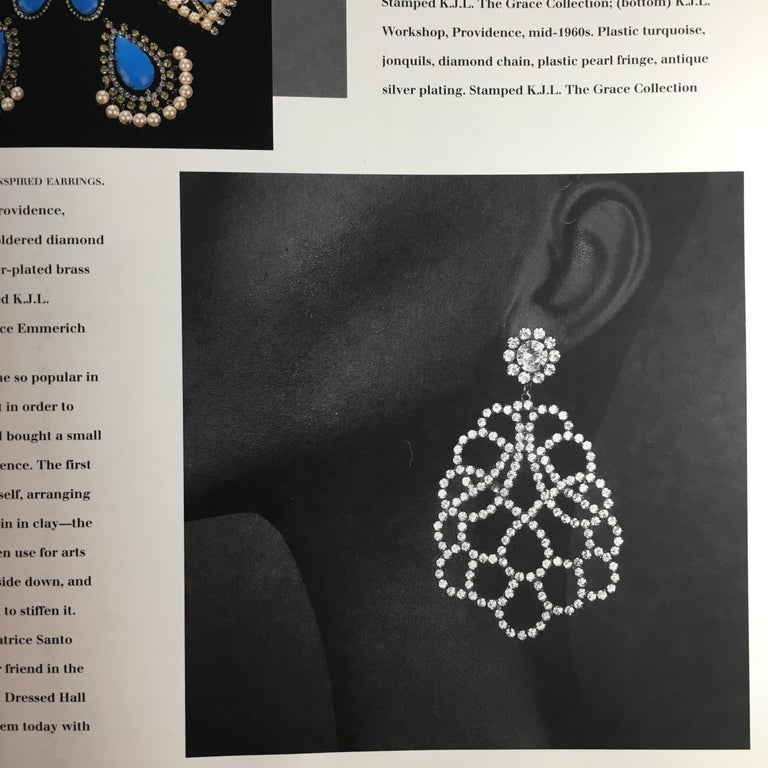 Kenneth Jay Lane K.J.L. Large Earrings, 1960s  For Sale 7