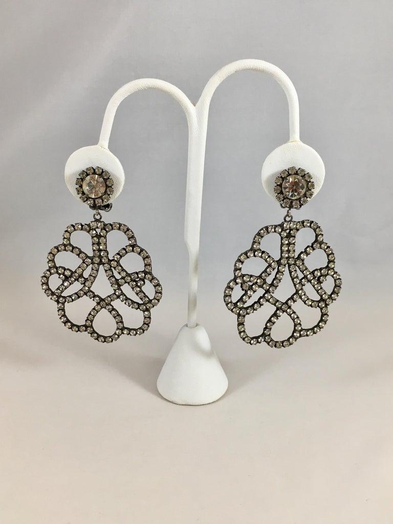 Kenneth Jay Lane K.J.L. Large Earrings, 1960s  For Sale 2