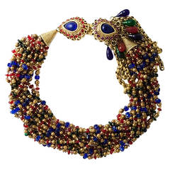 Gorgeous Claire Deve French Couture Necklace 1980
