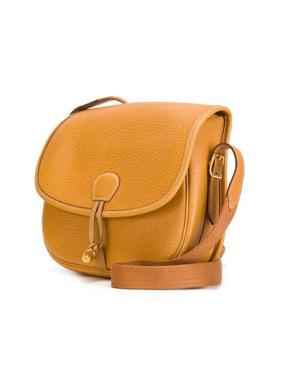 Rare Hermes Duffle Bamboo Handbag 1983 3