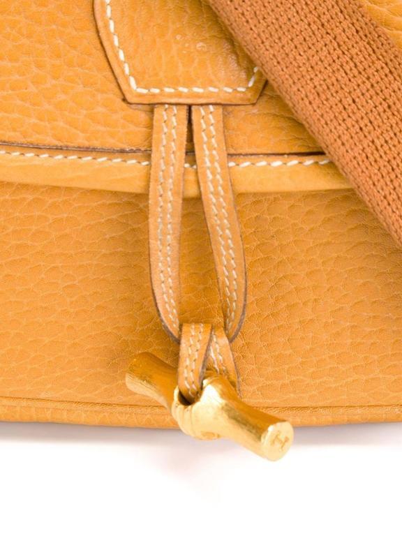 Rare Hermes Duffle Bamboo Handbag 1983 4