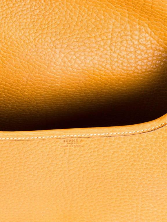 Rare Hermes Duffle Bamboo Handbag 1983 5