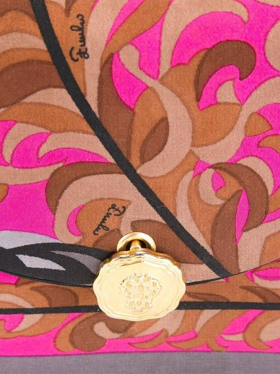 Women's or Men's Emilio Pucci Silk Foliage clutch, 1970s For Sale