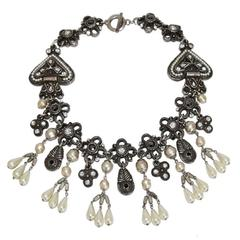Stunning Claire Deve French Couture Necklace c.1990