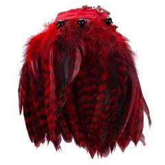 Défilé French couture vintage feathers bracelet of the 80s