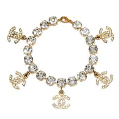 Chanel crystal charms bracelet 1995