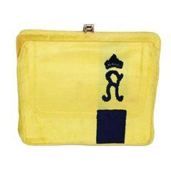 Very unique & collectable Roberta Di Camerino yellow little bag 60s