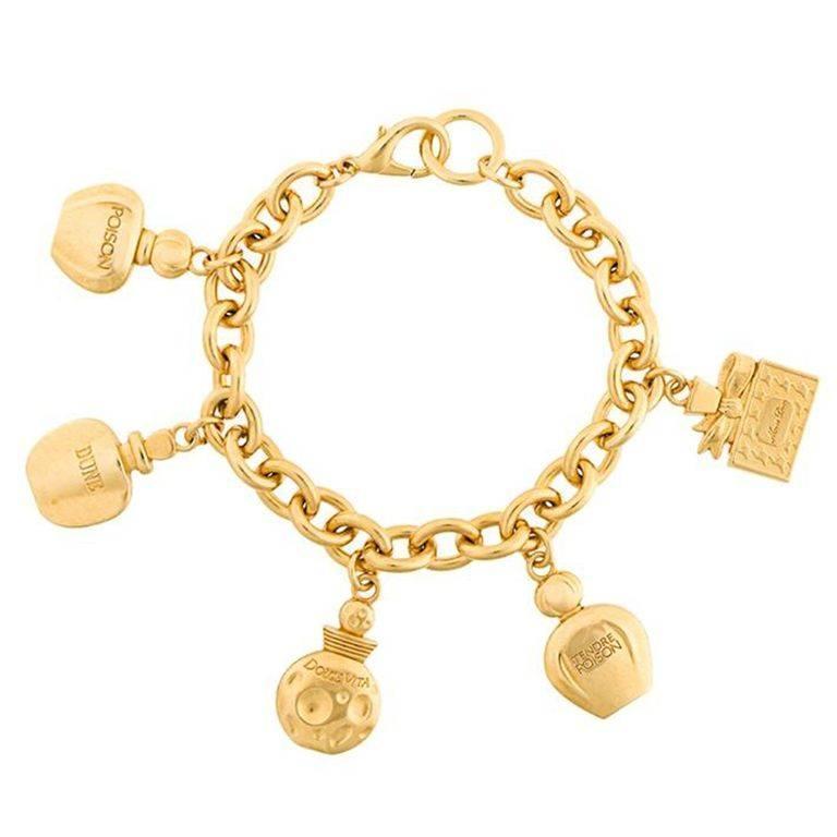 Christian Charm Bracelets: Christian Dior Charms Perfume Bracelet 90s At 1stdibs