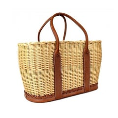 The Garden Party Hermes Wicker basket bag