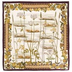 Hermès Rare 'Les Bolides' Scarf 1967 Réna Dumas