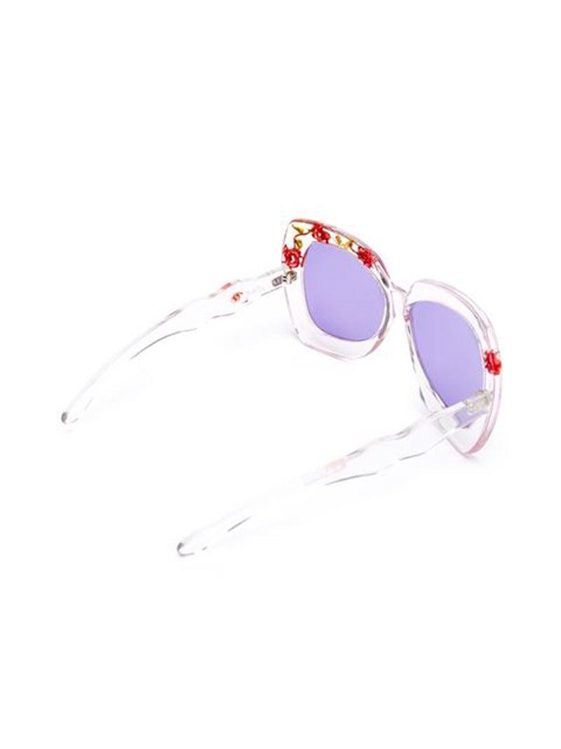 Unique 70s Pucci Flower Inset Plexi sunglasses 2