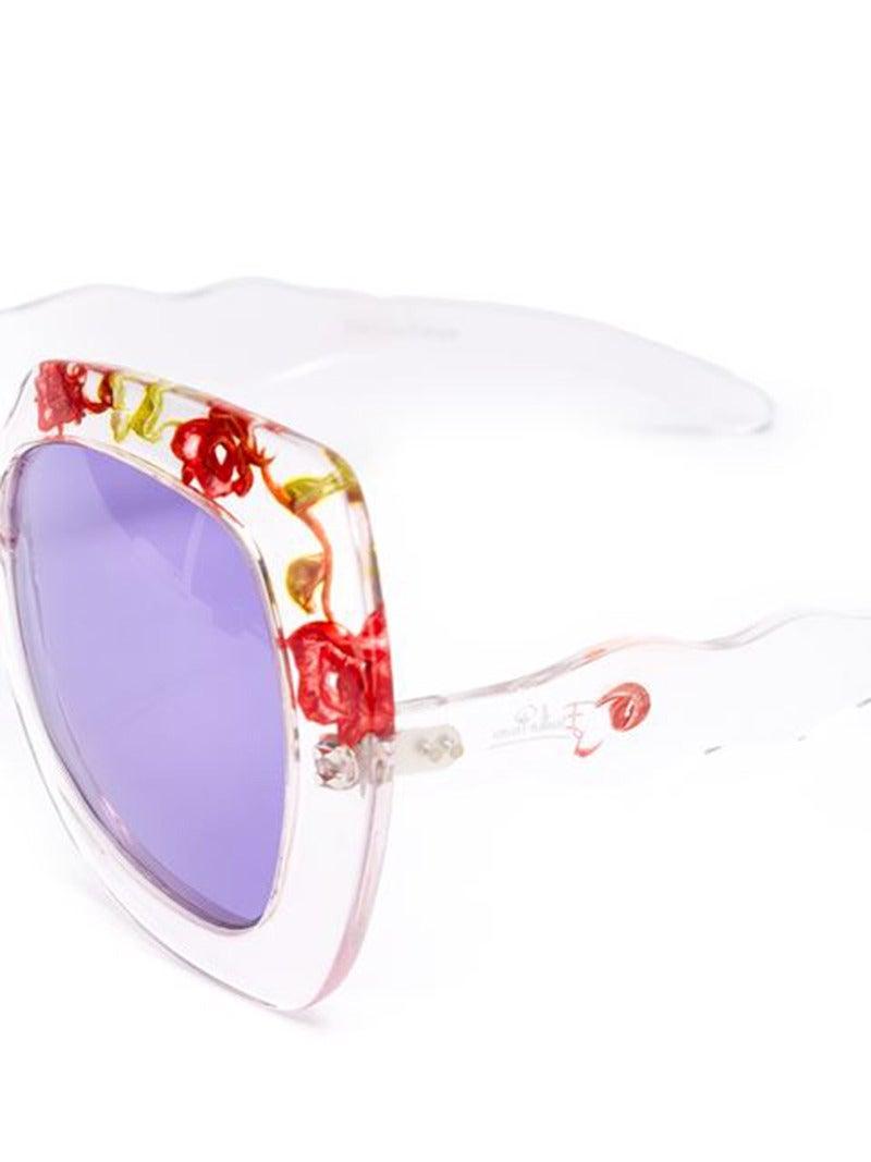 Unique 70s Pucci Flower Inset Plexi sunglasses 3