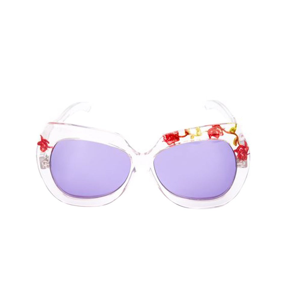 Unique 70s Pucci Flower Inset Plexi sunglasses 1