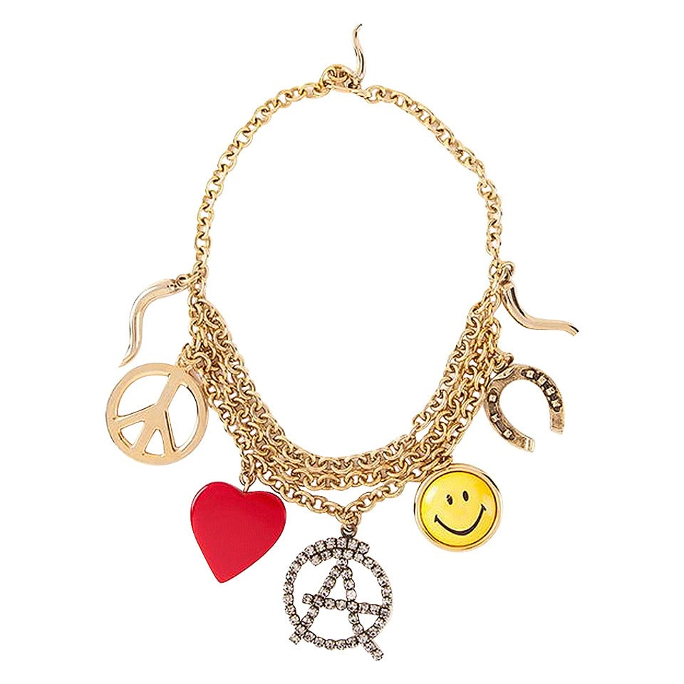 moschino vintage necklace 80s