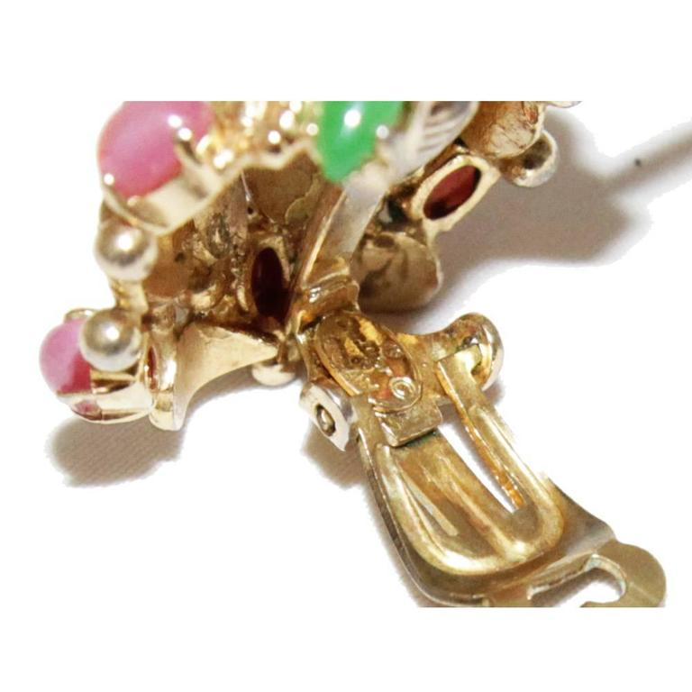 Bijoux Vintage Dior : Beautiful christian dior vintage fruit earrings for