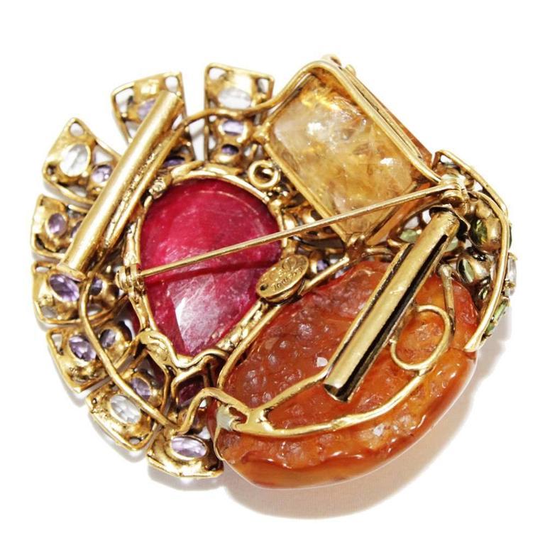 Women's Incredible semi-precious bracelet/brooch For Sale