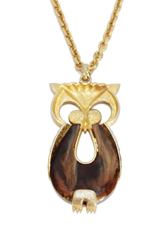 Great owl necklace of the 70s 2