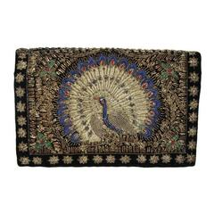 Unique & gorgeous peacock clutch of the 30