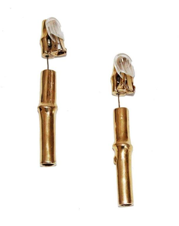 Fabulous rare and collectable Hermès bamboo earrings of the late 70s. Made of gold  sc 1 st  1stDibs & Fabulous bamboo Hermes earrings of the late 70s at 1stdibs
