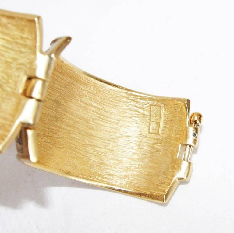 Women's Gorgeous & collectable YSL vintage arabesque 80s bracelet For Sale
