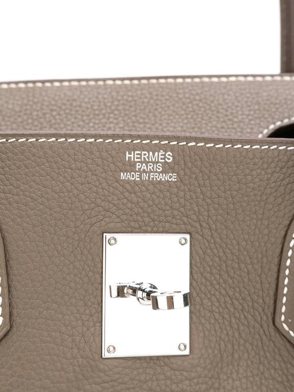 Hermes shoulder Birkin etoupe togo bag NEW condition 5