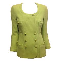 Chanel Bright Green Tweed Jacket