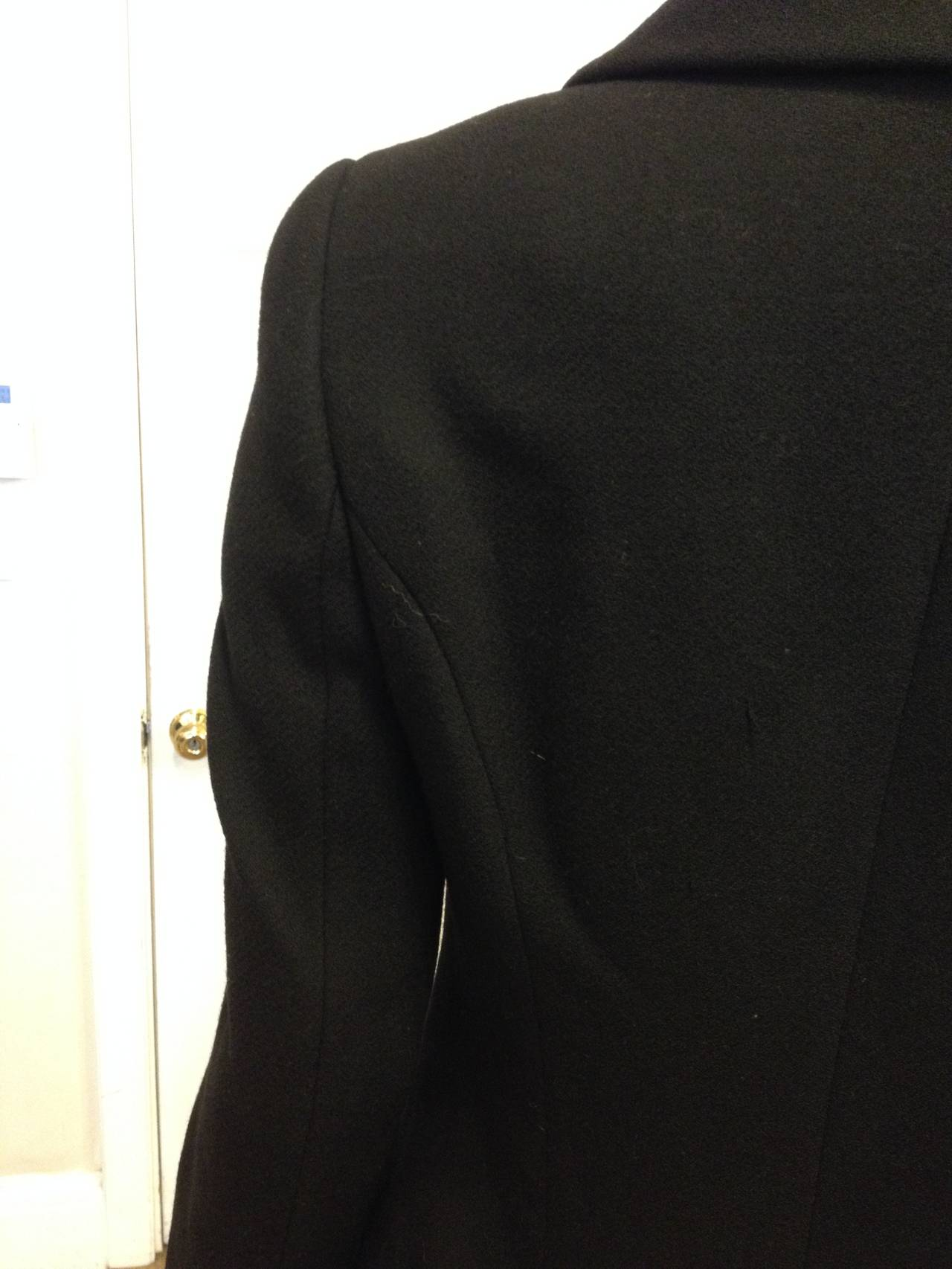 Dolce & Gabbana Black Wool Peacoat For Sale 1
