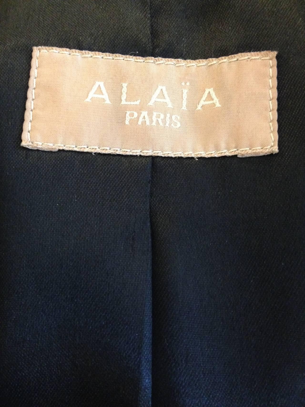 Alaia Black Leather Blazer 5