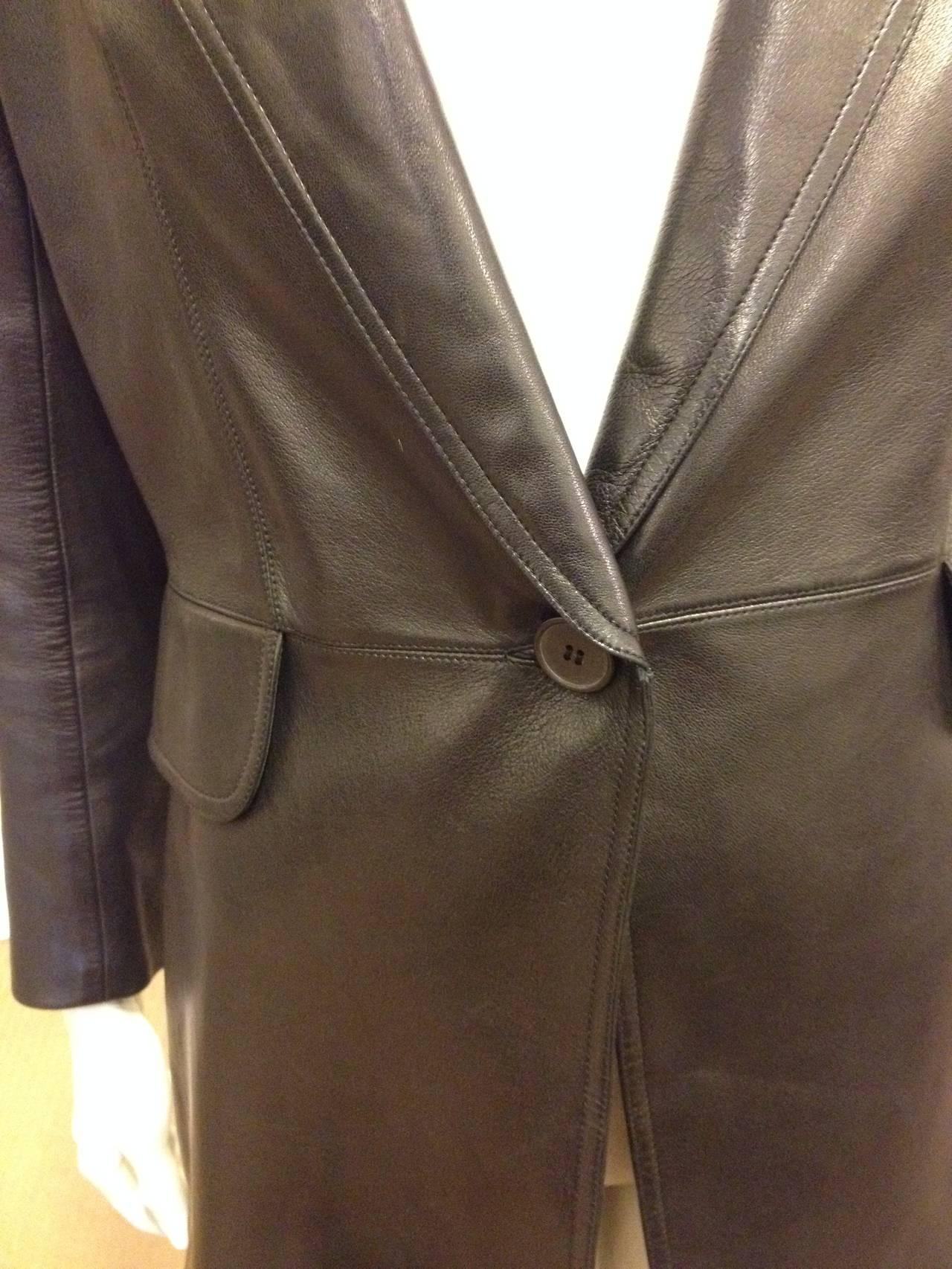 Alaia Black Leather Blazer 2