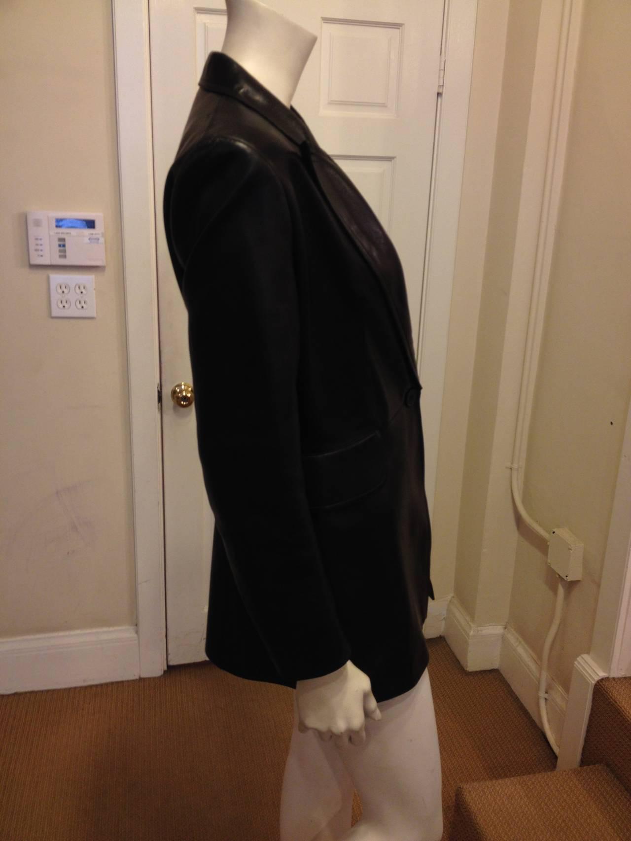 Alaia Black Leather Blazer 3