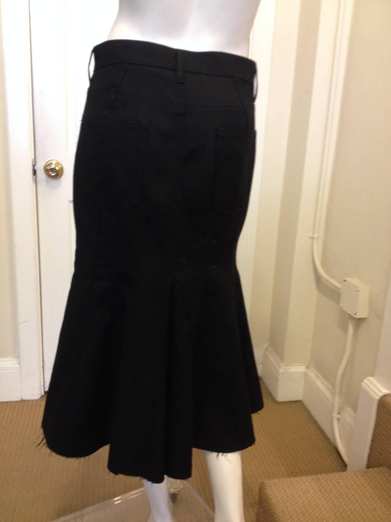 Junya Watanabe Black Flared Skirt 4