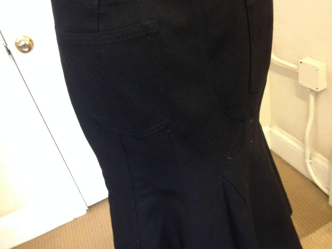 Junya Watanabe Black Flared Skirt 5