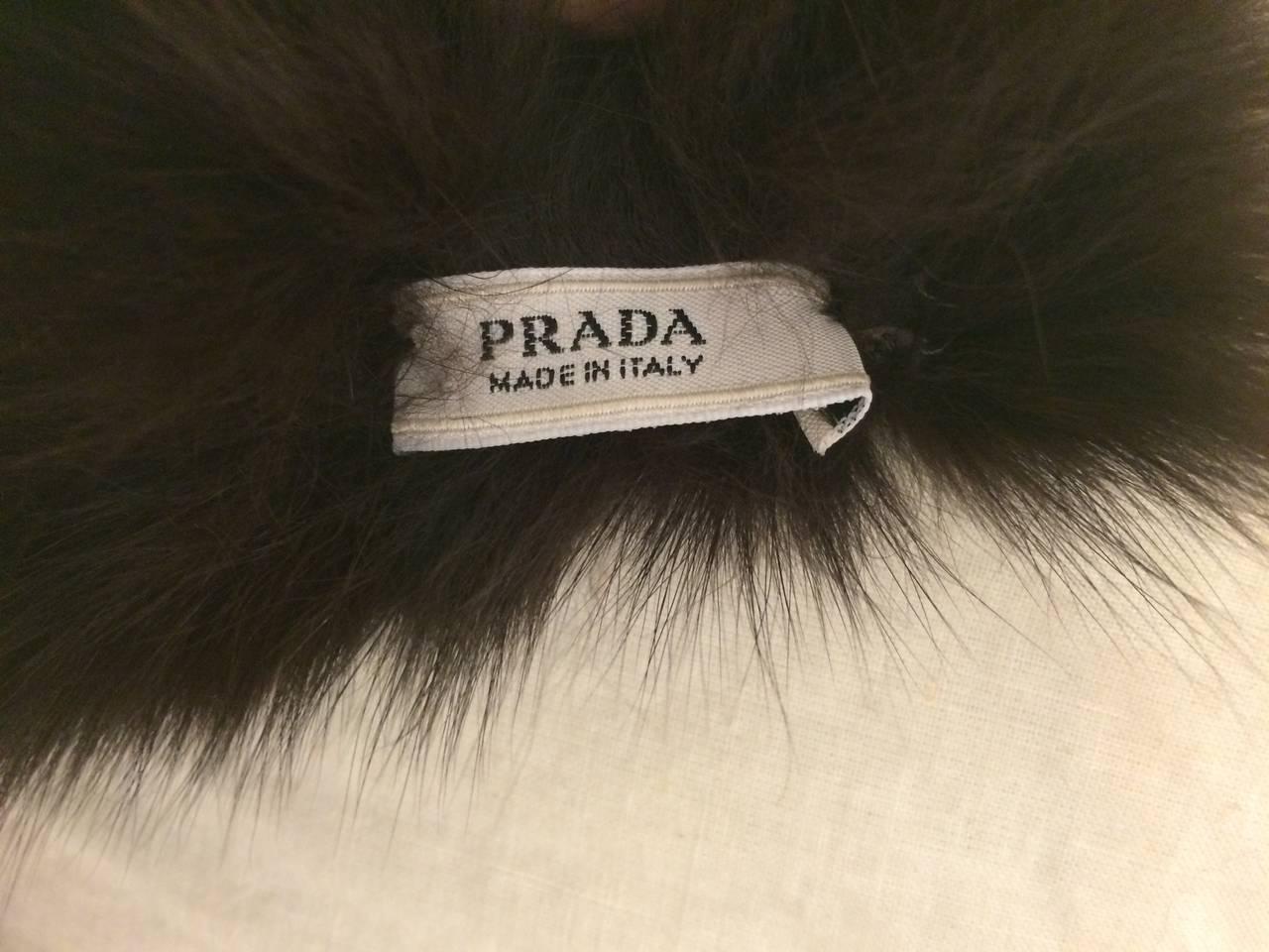 Prada Dark Brown Fox Fur Scarf 3