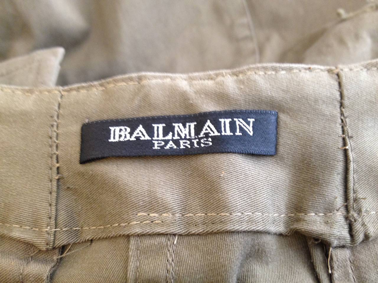 Balmain Olive Green Cargo Pants 5