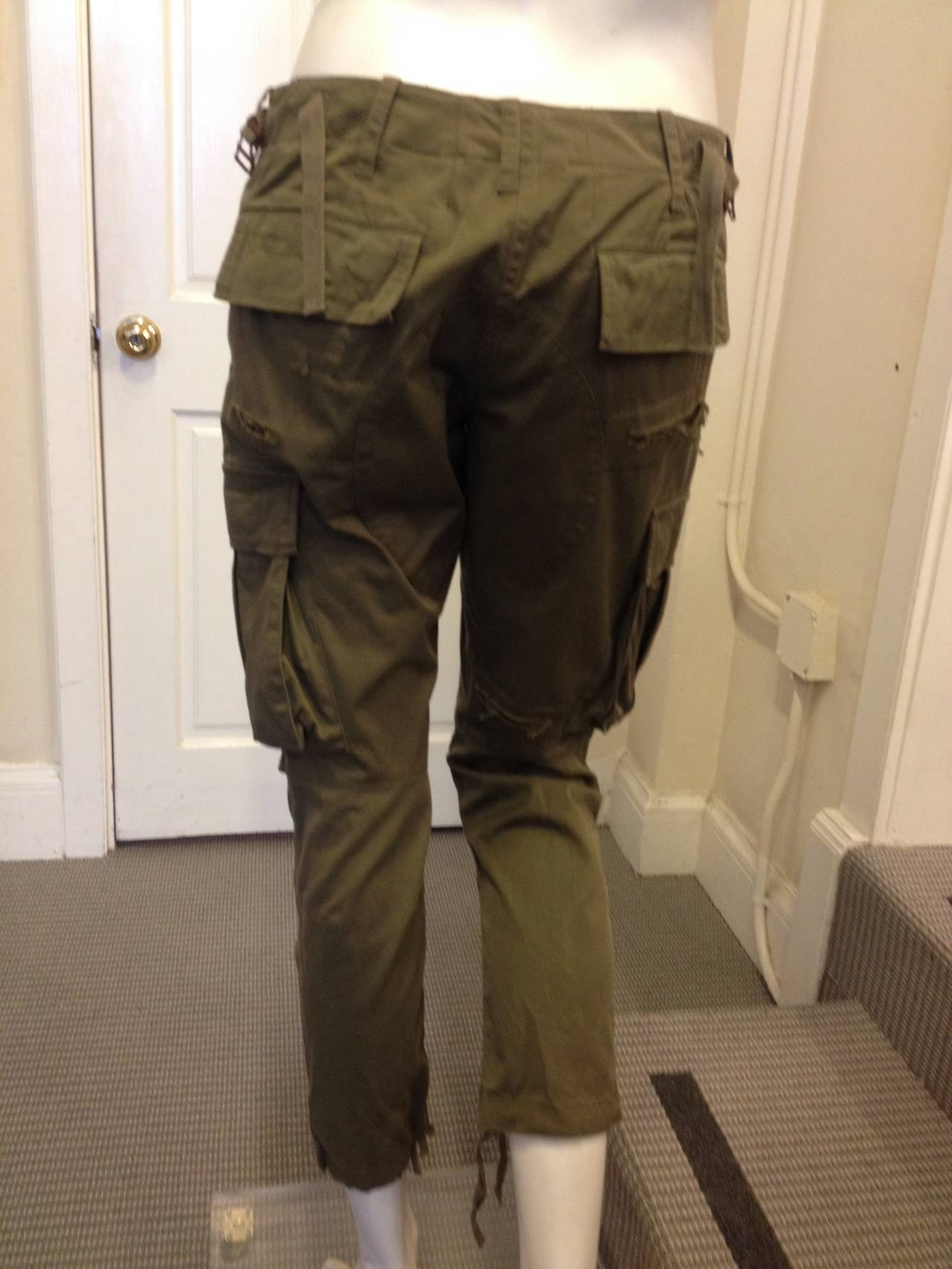 Balmain Olive Green Cargo Pants 4