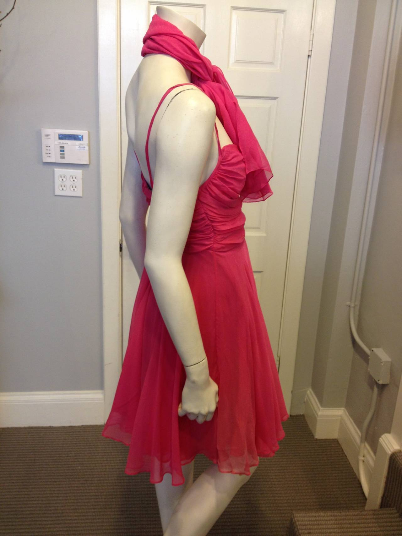 Sophie Sitbon Pink Chiffon Dress In Excellent Condition For Sale In San Francisco, CA