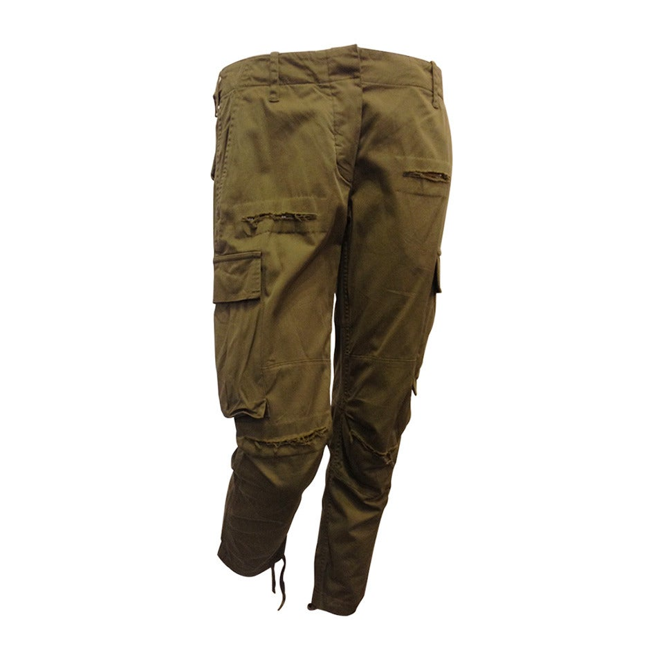 Balmain Olive Green Cargo Pants 1