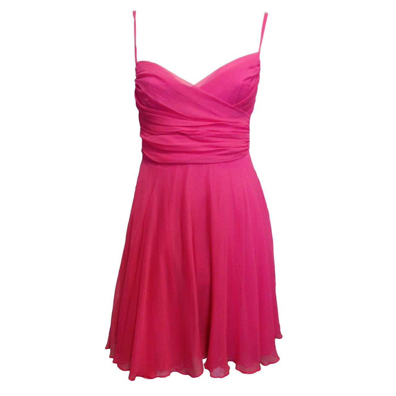 Sophie Sitbon Pink Chiffon Dress For Sale