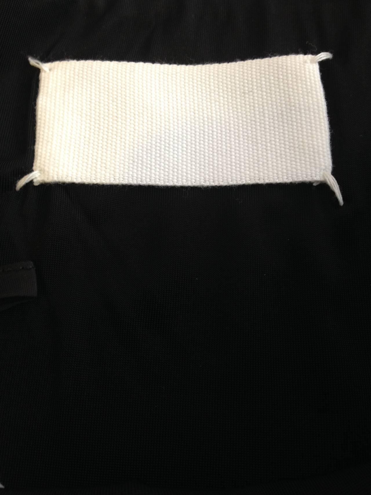 Maison Martin Margiela Black Zippered Pencil Skirt 5