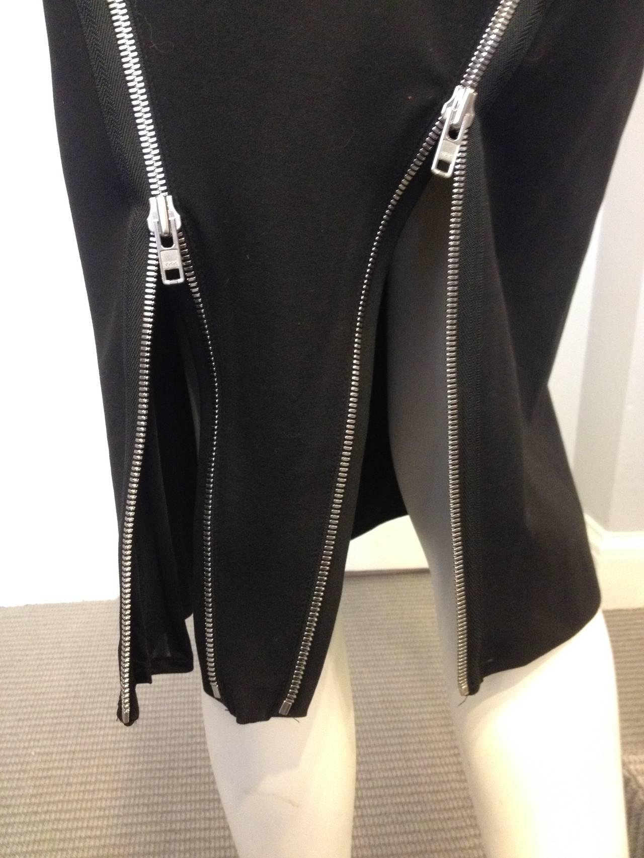 Maison Martin Margiela Black Zippered Pencil Skirt 3