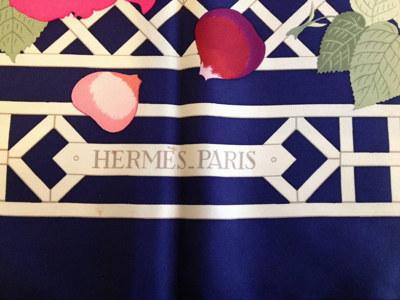 Hermes Roseraie Scarf 5
