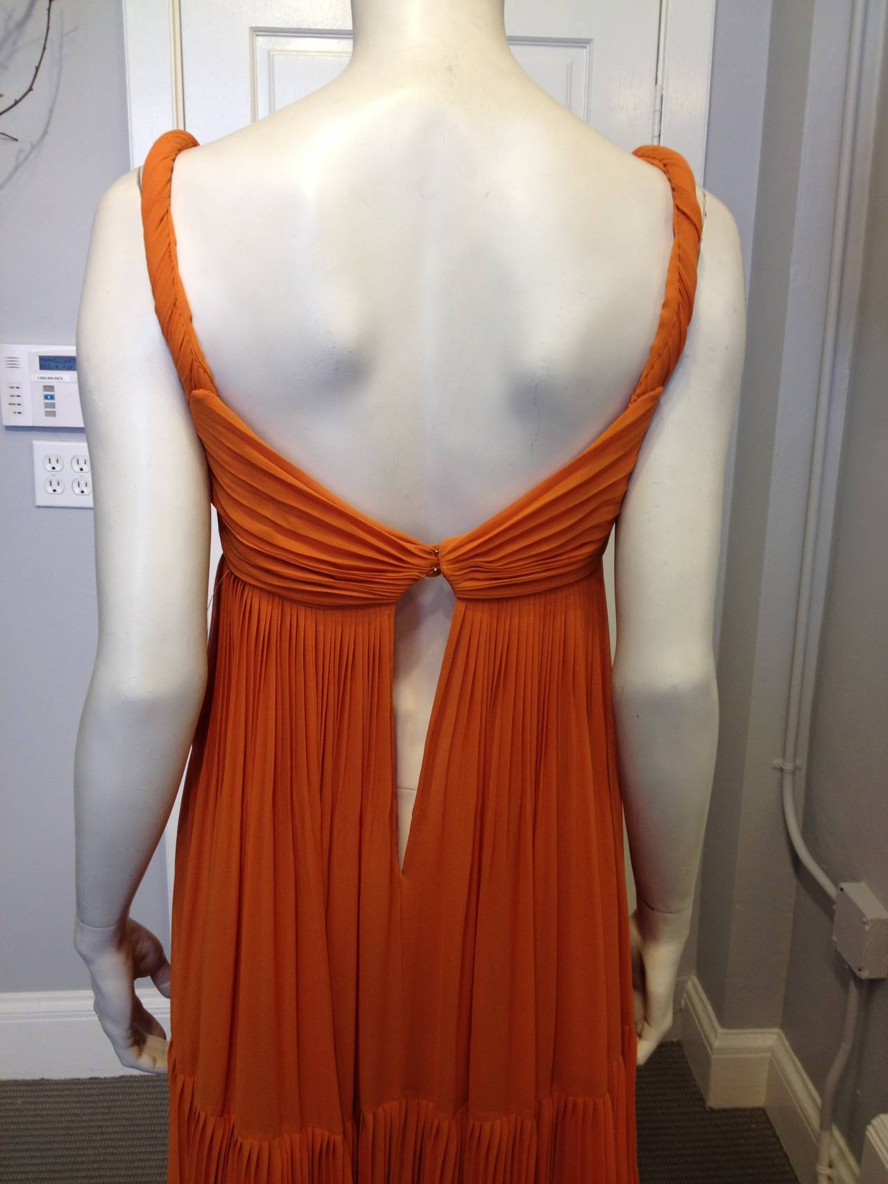 Gucci Orange Chiffon Tiered Gown 2