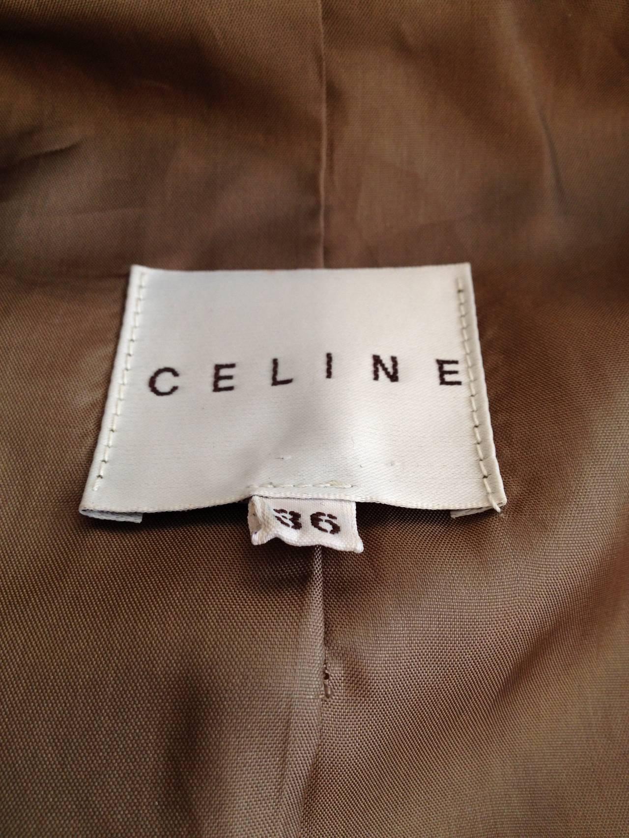 Celine Bronze Metallic Leather Jacket For Sale 1