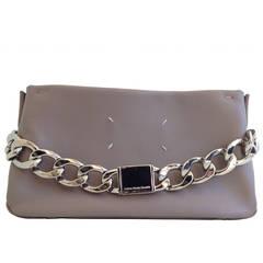 Maison Martin Margiela Mauve Leather Bag with Silver Chain