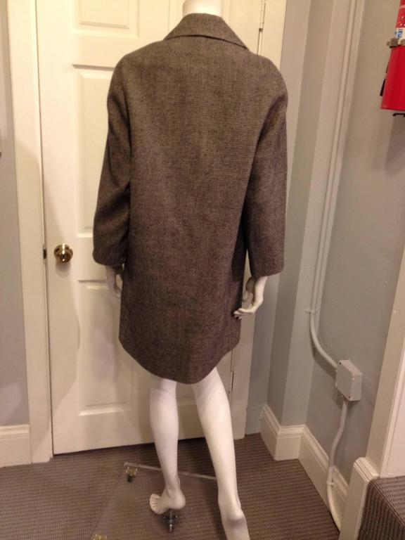 Black Balenciaga Brown Houndstooth Coat For Sale