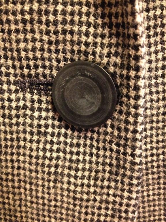 Balenciaga Brown Houndstooth Coat For Sale 2