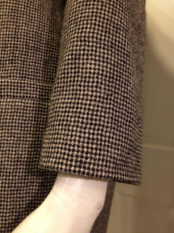 Women's Balenciaga Brown Houndstooth Coat For Sale