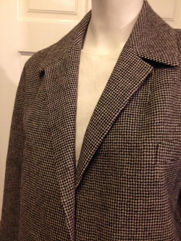 Balenciaga Brown Houndstooth Coat In New Condition For Sale In San Francisco, CA